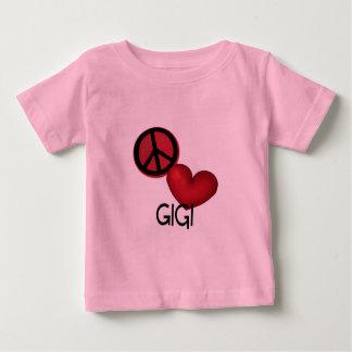 平和愛Gigi ベビーTシャツ