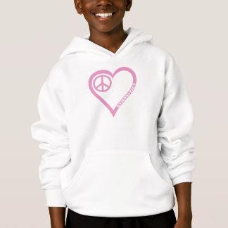 平和愛Gymnasitcsの女の子のワイシャツのフード付きスウェットシャツをカスタマイズ