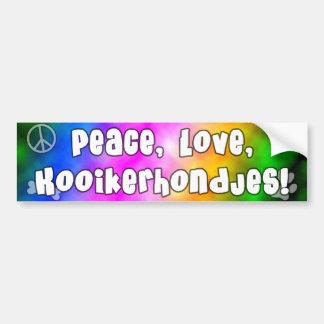 平和愛Kooikerhondjesのバンパーステッカー バンパーステッカー