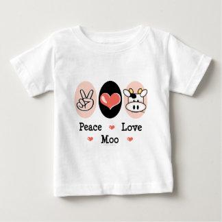 平和愛Moo牛ベビーのTシャツ ベビーTシャツ