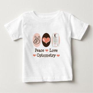 平和愛Optometryの検眼医のベビーのTシャツ ベビーTシャツ