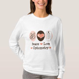 平和愛Optometryの検眼医の長袖のティー Tシャツ