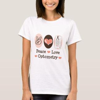 平和愛Optometryの検眼医のTシャツ Tシャツ
