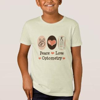 平和愛Optometryの検眼医はオーガニックなティーをからかいます Tシャツ
