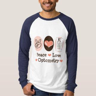 平和愛Optometryの野球ジャージーのティー Tシャツ