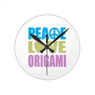平和愛Origami ラウンド壁時計