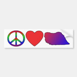 平和愛Pekingeseのバンパーステッカー バンパーステッカー