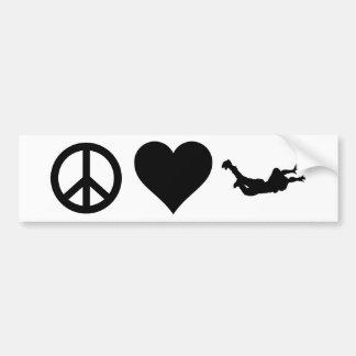 平和愛Skydiving バンパーステッカー