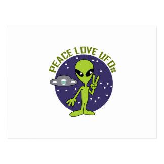 平和愛UFOS ポストカード