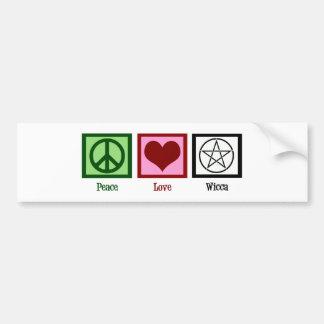 平和愛Wicca バンパーステッカー