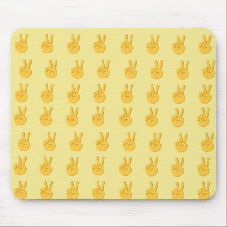 平和手の印Emoji マウスパッド