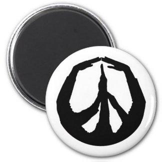 平和手 マグネット