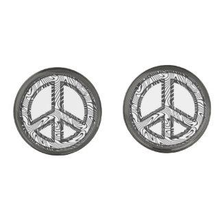 平和旅行 ガンメタル カフスボタン