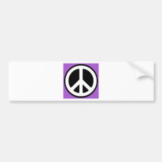 平和紫色の印! バンパーステッカー