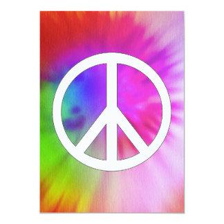 平和絞り染めの招待状 カード