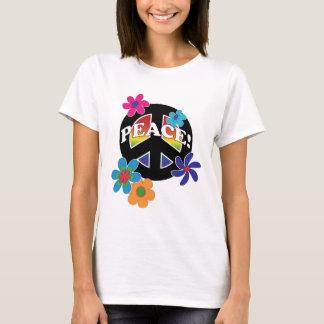 平和花の平和虹 Tシャツ