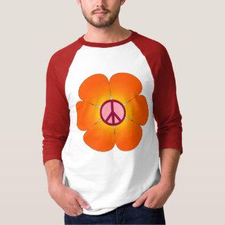 平和花のraglanのティー tシャツ