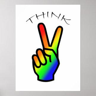 平和虹を考えて下さい ポスター