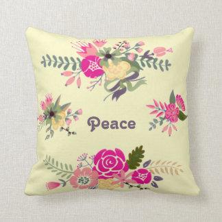 平和表現の花 クッション
