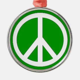 平和装飾は背景色をカスタマイズ メタルオーナメント