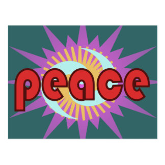 平和赤のフラッシュ ポストカード