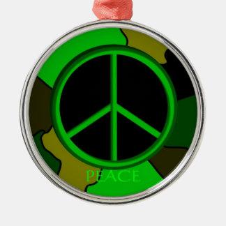 平和迷彩柄のオーナメント メタルオーナメント