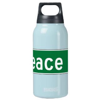 平和通り、交通標識、ノースカロライナ、米国 断熱ウォーターボトル