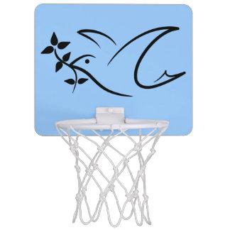 平和鳩のオリーブの枝 ミニバスケットボールゴール
