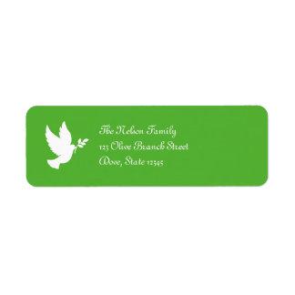 平和鳩のAveryのラベル ラベル
