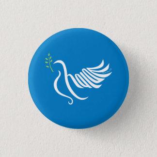 平和鳩ボタンShalom 3.2cm 丸型バッジ