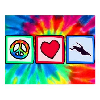 平和、カヤックを漕ぐ愛 ポストカード