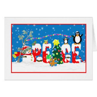 平和-クリスマスのおもしろい カード
