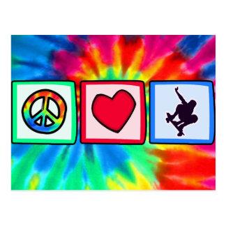 平和、スケートボードをする愛 ポストカード