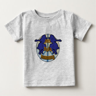 平和、フラ、調和のロゴ ベビーTシャツ