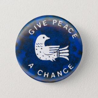 平和-ボタン--を与えて下さい 5.7CM 丸型バッジ