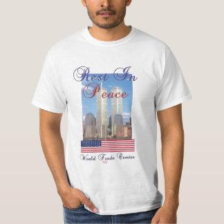 """平和""""世界貿易センター""""の残り Tシャツ"""