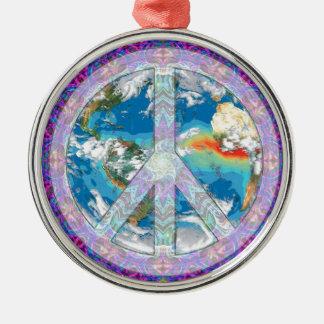 平和-共存して下さい メタルオーナメント