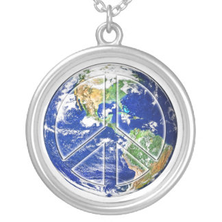平和|地球|-|カスタマイズ可能|ペンダント|ネックレス カスタムネックレス