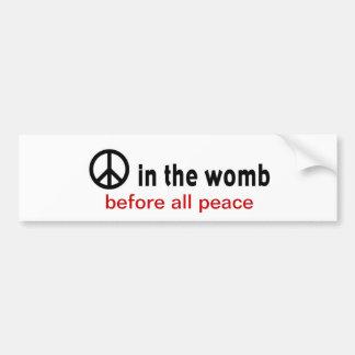 平和: 子宮 バンパーステッカー