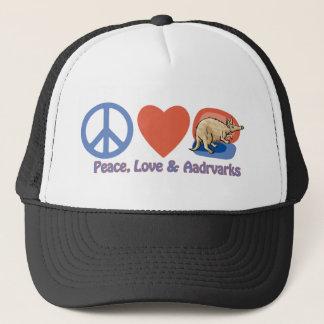 平和、愛およびアリクイ キャップ