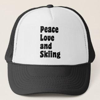平和、愛およびスキー キャップ