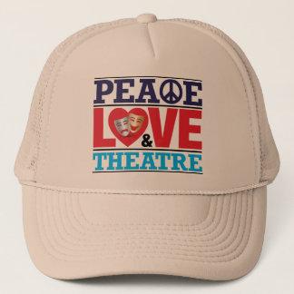 平和、愛および劇場の帽子 キャップ