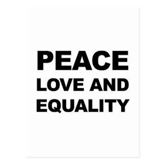 平和、愛および平等 ポストカード