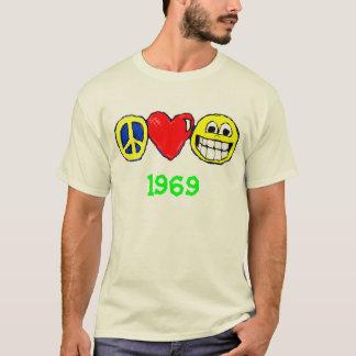 平和、愛および幸福 Tシャツ