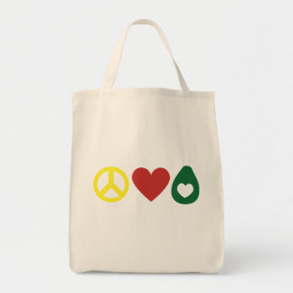 平和、愛アボカドのトート トートバッグ