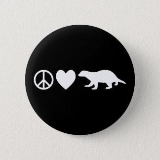 平和、愛及びラーテル 5.7CM 丸型バッジ