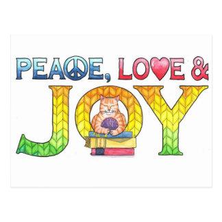 平和、愛及び喜びの感動的な郵便はがき ポストカード