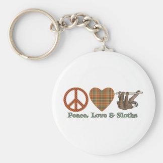 平和、愛及び怠惰 キーホルダー