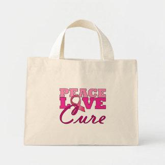 平和、愛及び治療 ミニトートバッグ
