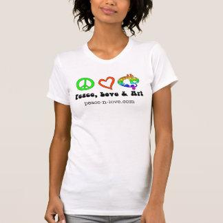 平和、愛及び芸術のシンボルや象徴のTシャツ Tシャツ